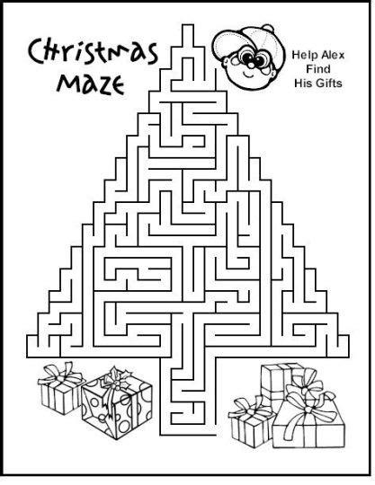 printable mazes christian christian christmas maze