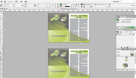 creating indesign master page creating a professional document in indesign creative studio