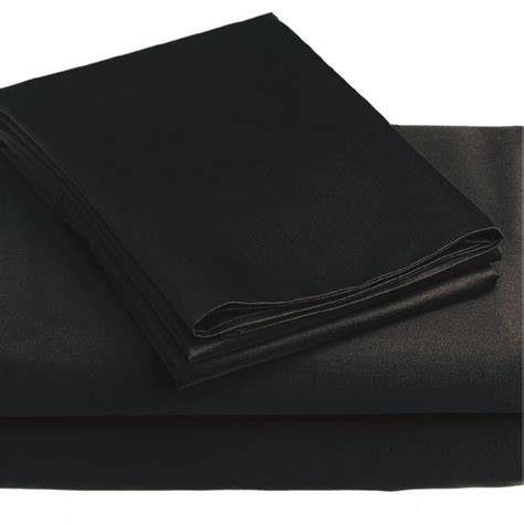 Solid Black Bed Sheets 3pc Twin Single Sheet Set Black Bed Sheet Set