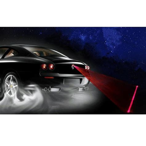 car universal automotive laser fog black