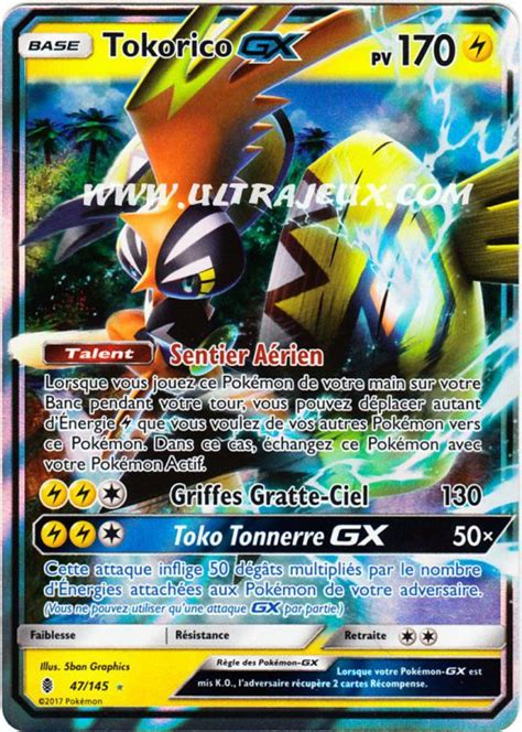 Ultrajeux Tokorico Gx 47 145 Carte Pok 233 Mon Cartes 224 L