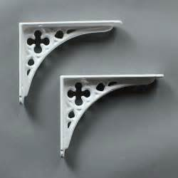Small Shelf Bracket by Pair Of White Small Cast Iron Shelf Brackets