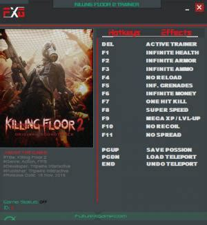 killing floor 2 trainer 5 v1050 mrantifun download cheats codes trainers