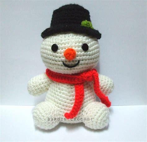 amigurumi snowman pattern free snowman 7 08 quot handmade amigurumi crochet doll home decor