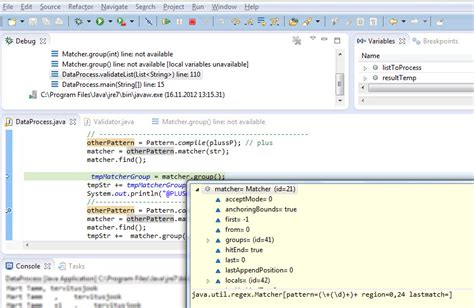 java pattern matcher variables java matcher group states the local variable is