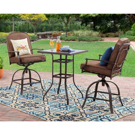mainstays wentworth 3 high outdoor bistro set seats