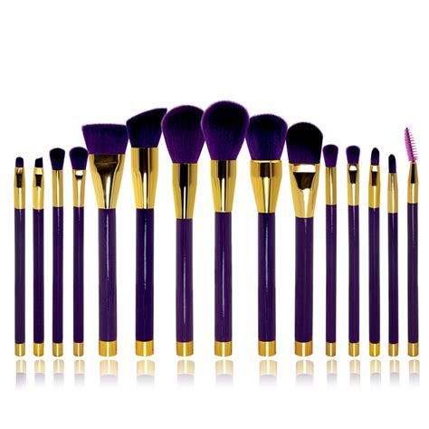 Kuas Make Up Profesional Transparent Fluid Handle 7pcs professional 15pcs set make up brushes brand cosmetic brush make up tools kit white purple no