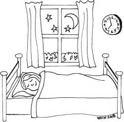sleeping coloring page coloring