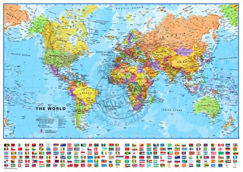 english world map printable maps international wereldkaart staatkundig 1 40m