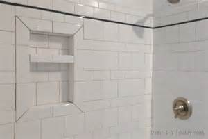 how to cut bathroom tiles tiling an inset shower niche shelf d oh i y