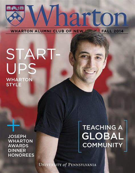 Wharton Mba Marketing Club by Wharton Club Of New York Magazine Fall 2014 By Wharton