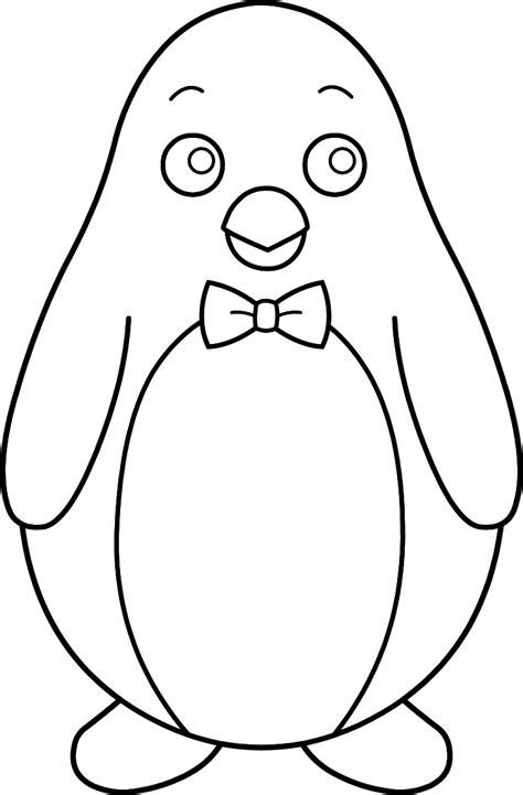free coloring pages of bow ties colorable penguin with bow tie free clip art free coloring