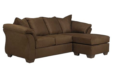 ashley couch with chaise jarons darcy cafe sofa chaise
