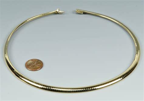 Choker Gold Ring Omega Choker lot 3088064 14k yellow gold omega collar necklace