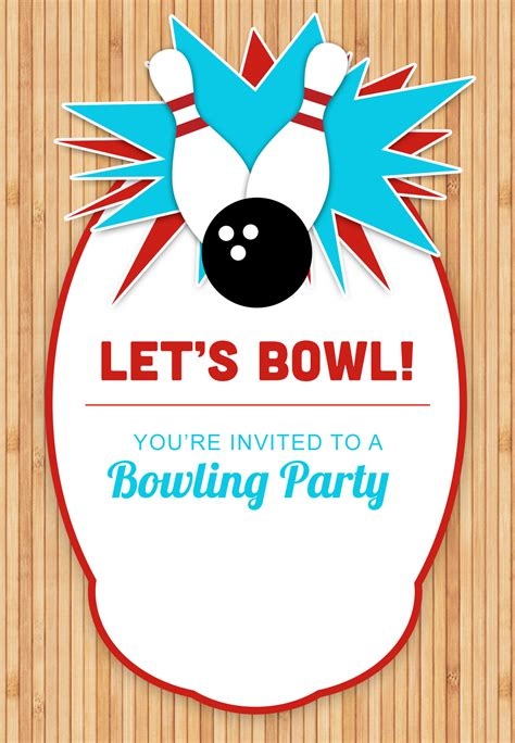 printable birthday party invitations bowling bowling party free printable birthday invitation