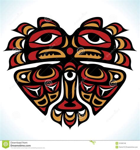 vector indian pattern   shape  heart royalty