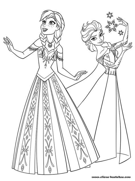 Coloriage En Ligne De Elsa Et Anna L L L L L L L L L L L