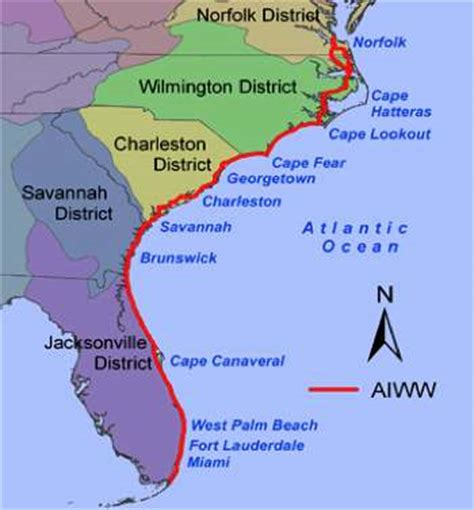 intracoastal waterway map intracoastal waterway explore the nature side of florida