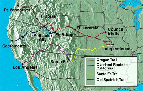 map of the oregon trail california trail map for bnhspine
