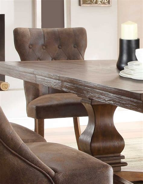 homelegance louise 9 expandable trestle homelegance louise dining set rustic oak brown d2526 96 homelegancefurnitureonline