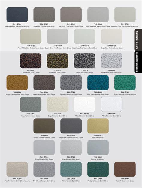 color coat powder coat color charts mile high powder coating inc