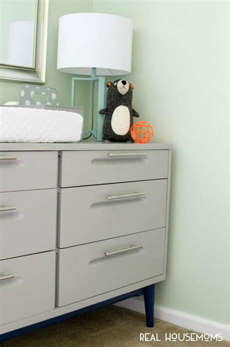 turn dresser into changing table outdated dresser to modern changing table housemoms