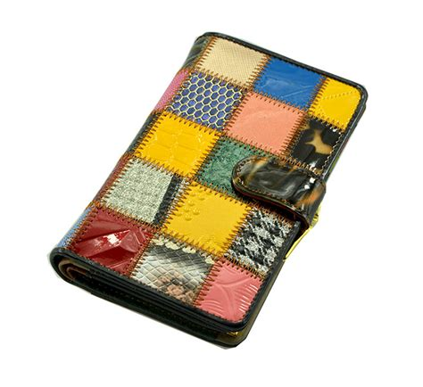 Patchwork Wallet - wallet purse patchwork design hermes bag vs