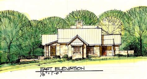 dallas residential architects conceptual design for ranch home in hill country by