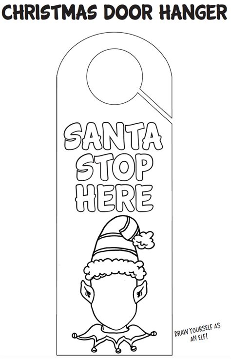 printable christmas door hangers printable christmas door hanger craft childhood101