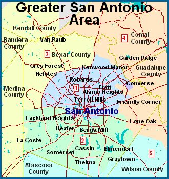 map of san antonio texas area san antonio map free printable maps