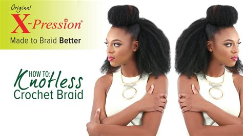 knotless crochet braid invisible knot method  pression cuevana twist youtube