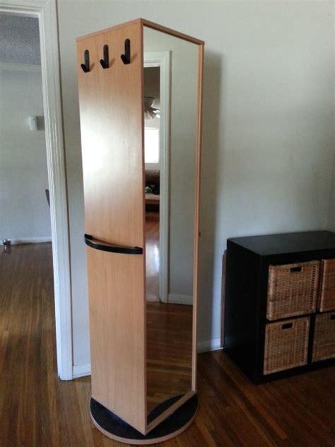 Malm Bookshelf Ikea Kajak Rotating Swivel Cabinet Wardrobe Has Mirror