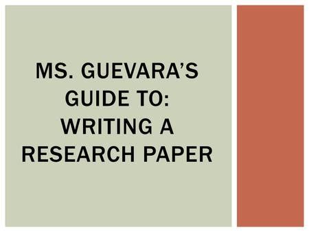guide to writing research papers selecting a topic and a purpose choosing a topic