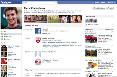 biography for facebook page new facebook profile pages revealed