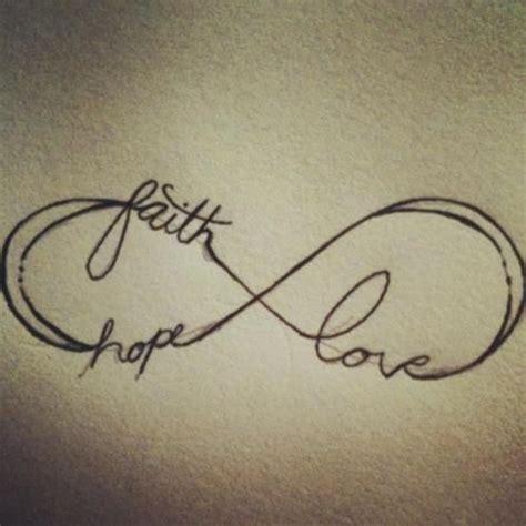 tattoo infinity vögel resultado de imagen para love hope faith tattoo
