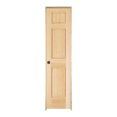 home depot doors interior pre hung jeld wen woodgrain 6 panel unfinished pine single prehung