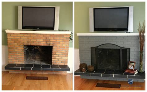 50 Fireplace Makeovers For The Changing Seasons And Holidays Ideas For Painting Brick Fireplaces