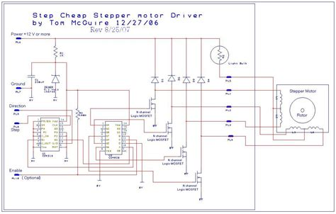 stepper motor controller circuit easy to build cnc mill stepper motor and driver circuits