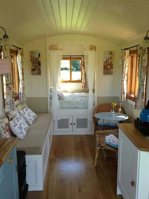 wagon interior small house home tiny cottages cabin