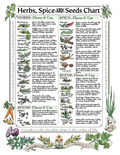 spice herb kitchen chart by amalgamarts on etsy 1000 images about graphics fonts printables on