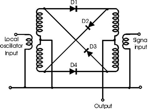 balanced diode mixer circuit radio electronics