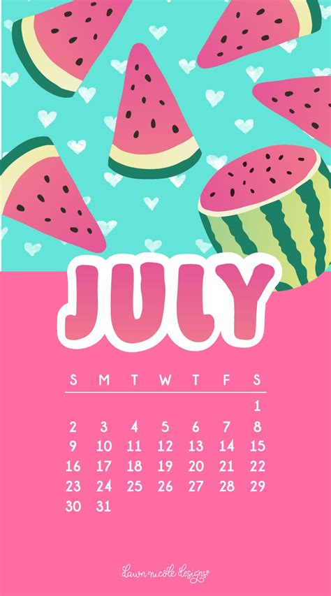 july  calendar tech pretties dawn nicole designs