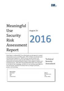 Meaningful Use Security Risk Analysis Template by Meaningful Use Risk Assessment Template