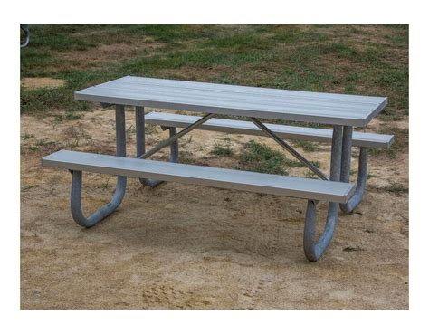 metal picnic table frame 8 ft heavy duty aluminum picnic table with welded