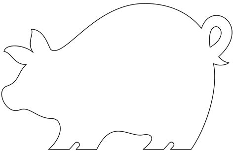 pig template puzzle template 6 pieces clipart best