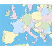 Western And Central Europe Free Map Blank Outline
