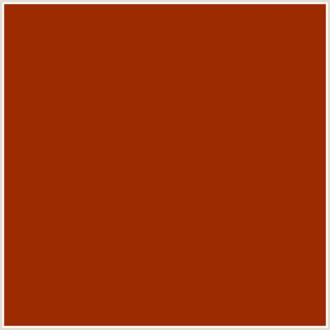 burnt orange color code 9c2a00 hex color rgb 156 42 0 fire red orange