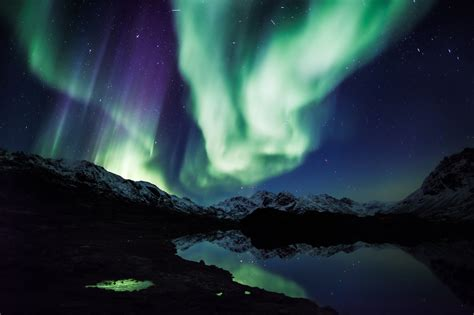 Northern Lights Landscaping Alaska Borealis Northern Lights Nature Sky Landscape Outdoors Artic Boreale 1888380