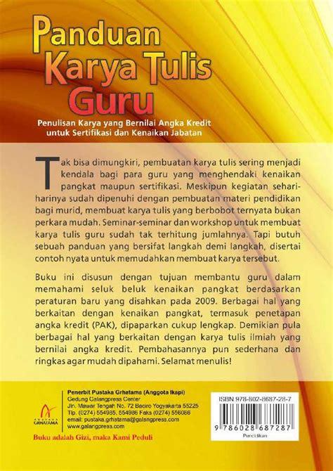 Buku Panduan Karya Tulis Guru Vz panduan karya tulis guru book by asul wiyanto mustakim