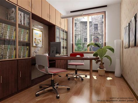 cozy home interior design home office cozy home office with chairs stock photo